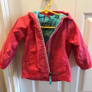 LL Bean infant and toddlers discovery rain jacket